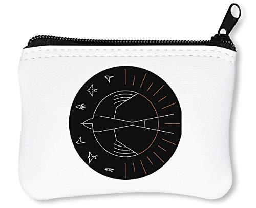 Swallow The Sun Artwork Design Art Reißverschluss-Geldbörse Brieftasche Geldbörse