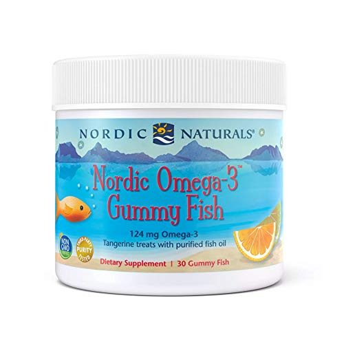 Nordic Naturals Nordic Omega-3 Gummy Fish, Tangerine - 30 Gummy Fish - 124 mg Total Omega-3s with EPA & DHA - Non-GMO - 30 Servings