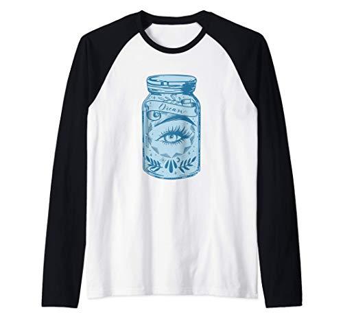 Sueño Preservado Mason Jars One Eye Patriotic Gift Camiseta Manga Raglan