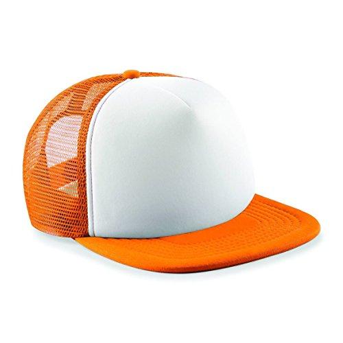 Beechfield, Trucker-Cap für Herren, zur Hälfte aus Netzstoff, B645, Orange, B645
