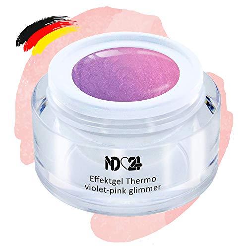 Uv Led Effekt-Gel Thermo Violet-Pink Glimmer - Studio Qualität - Made In Germany - 5ml