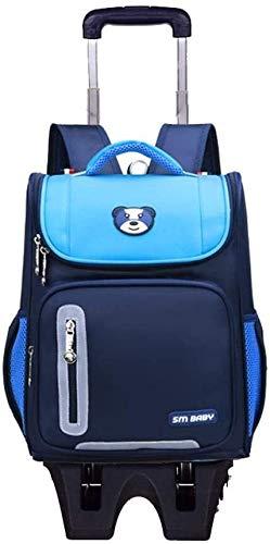 Mochilas de la Bolsa de Escuela para niños Bolsas de la Escuela con Ruedas Bolsa de Viaje Mochila - Regalos de la Temporada Escolar Sky Blue- 3 Ruedas Jialele (Color : Sky Blue, Size : 3 Wheels)