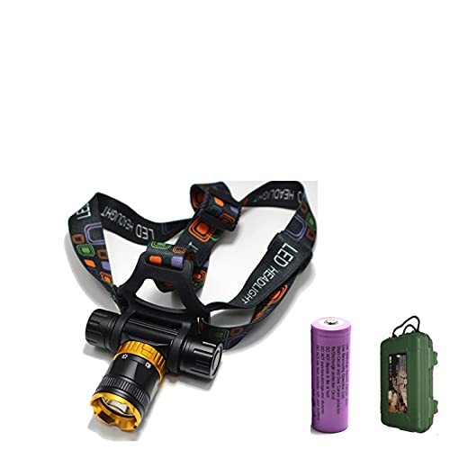 JSJJAUJ Recargable Buceador buceador LED de Buceo 5-Modo Buceo a Prueba de Agua Buceo de Buceo Faro de natación IPX6 Luz de Pesca de Trabajo bajo el Agua (Emitting Color : G)