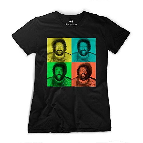 Bud Spencer - Girls - B. Joe Fotoautomat - T-Shirt (Damen), Schwarz, S