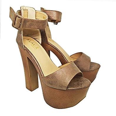 KLAUR MELBOURNE Women Block Heel 6 Inch Fashion Sandals