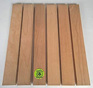 """3/4"""" x 2"""" x 16"""" Solid Cherry Hardwood Lumber Made by Wood-Hawk - Pack of 6"""