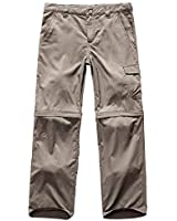 Kid's Boy's Pants Youth Casual Waterproof Hiking Camping Convertible Stretch UPF 50+ Quick Dry Cargo Trousers (9011#Khaki, XXS(US 4-5))