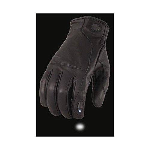 Milwaukee Leather Men/'s Reflective Skull Glove avec Gel Paume Pour Moto Riders