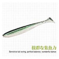 新しい釣りルアーTテールwrom 55mm 65mm 75mm 88mm臭気の誘引促進剤の人工的な餌 (色 : B, Size : 55mm 0.8g 25PCS)
