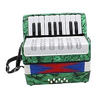 D DOLITY ABS製 鍵盤アコーディオン ピアノアコーディオン ベース ピアノ アコーディオン演奏用 楽器 - グリーン