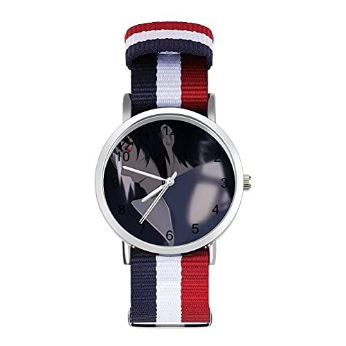Uchiha Sasuke- Reloj trenzado con escala de moda, ajustable, banda de impresión a color, adecuado tanto para hombres como para mujeres