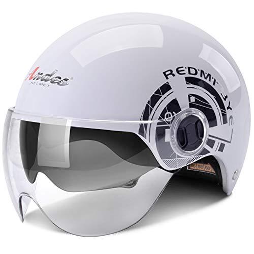 OLEEKA Flip Up 2 Viseras Moto Motocross Casco Riding Scooter Crash Casco Protección UV Casco de moto