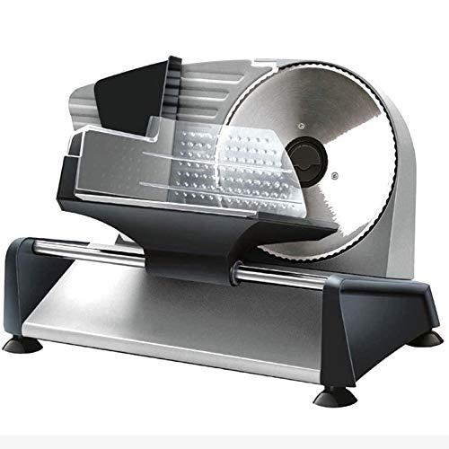LOVEHOUGE Cortador de carne eléctrico, cortador de alimentos, de grosor ajustable con hoja de acero inoxidable para carne, queso, pan (150 W)
