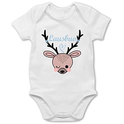Shirtracer Oktoberfest & Wiesn Baby - Lausbua REH - 1/3 Monate - Weiß - Baby Body - BZ10 - Baby Body Kurzarm für Jungen und Mädchen