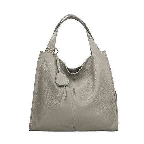 Aren - Shoulder Bag Borsa a Spalla da Donna in Vera Pelle Made in italy - 40x36x10 Cm