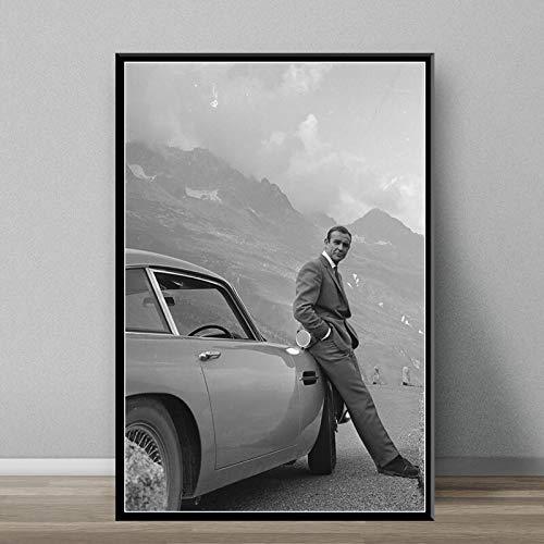 Klassische Film Leinwand Wandkunst für Retro-Dekoration im Wohnzimmer,Rahmenlose Malerei-80X120cm