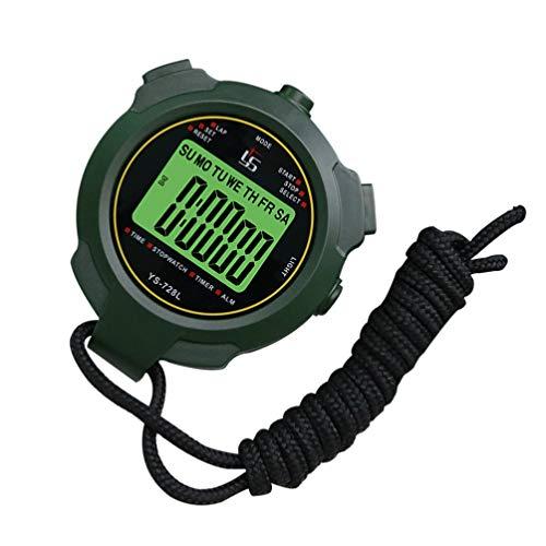 CLISPEED Cronómetro Digital Electrónico Temporizador de Mano LCD Cronógrafo Resistente Al Agua Relojes de Parada para Deportes Fitness