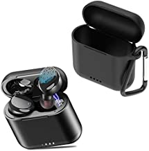 TOZO T6 Protective Silicone Case Black & T6 True Wireless Earbuds Black