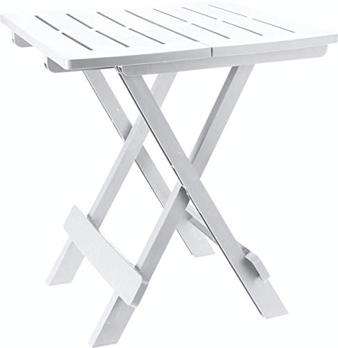 Pro Garden Kunststoff Beistelltisch Kleiner Klapptisch Gartentisch Tisch Camping Weiß