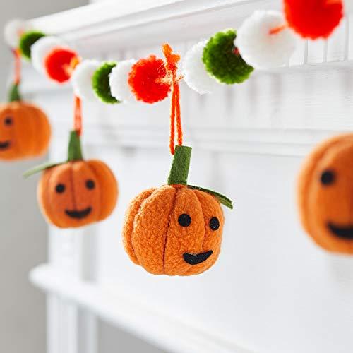 Lights4fun Plüsch Kürbis Girlande Halloween Deko Herbst Deko