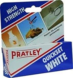 Pratley Quickset White Epoxy - Shiny White Finish