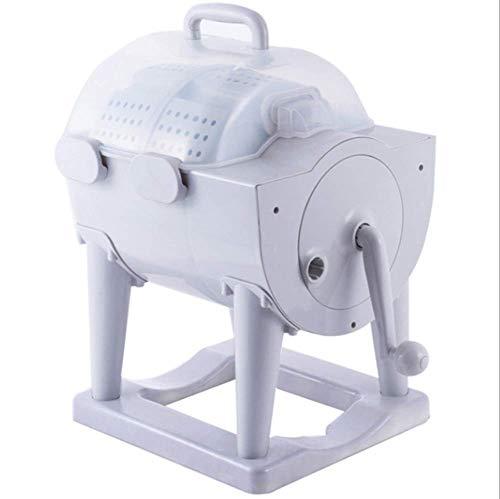 WOAIM Portatile Non Elettrici Piccola Lavatrice Lavatrice da Campeggio Mini Lavatrice Manovella Contro Parte Superiore Lavatrice Asciugatrice per Appartamento, Hotel, Dormitorio, Camping Dormitori
