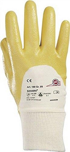 Handschuhe Sahara 100 Gr.8 gelb Nitril L.250mm KCL mit Strickbund, 10 Paar
