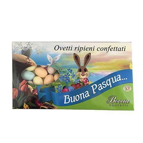 Ovetti Ripieni Confettati Colorati Kg 1 - Circa 105 Ovetti di Pasqua - Confettificio Boccia