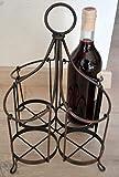 Maison en France Flaschenkorb- hübscher Korb für 4 Flaschen aus Metall-stabile Ausführung