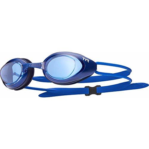 TYR Blackhawk–Gafas de natación Mixta, Color Bleu/Marine, tamaño Talla única