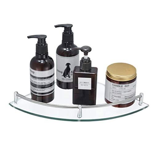 SCDZS Aluminio Vidrio estantería de baño bañera de Esquina Caddie Cesta de Almacenamiento Colgantes Organizador con Extra Gruesa de Vidrio Templado Estilo de Montaje en Pared contemporáneo