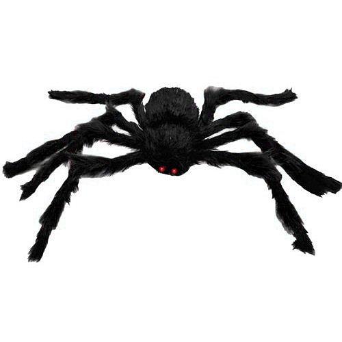 EVINIS 1,5 Meter lange Plüsch Spinne für Halloween Dekoration (Spinne schwarz)