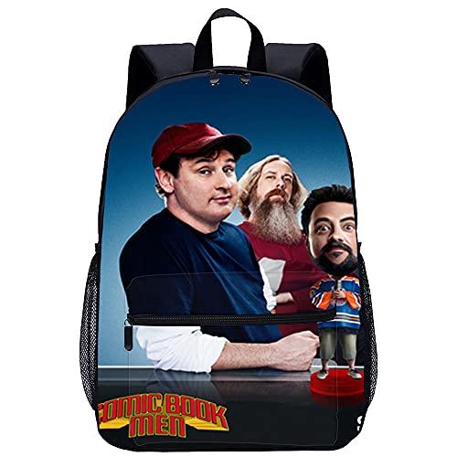 KKASD Mochila con estampado 3D de cómic para hombre, mochila informal para adolescentes, hombres y mujeres, mochila escolar de 45x30x15 cm, mochila para niños