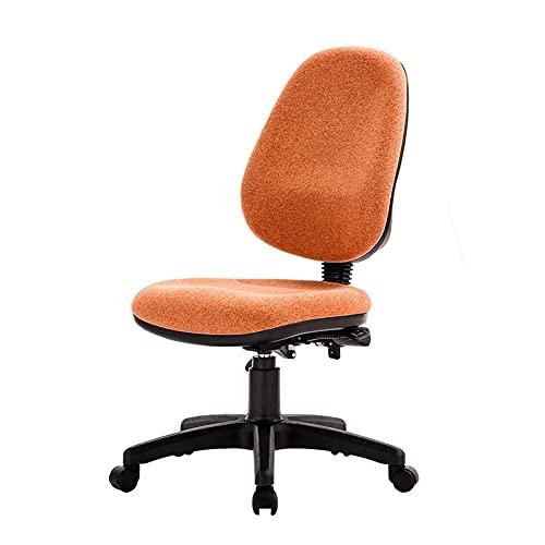 ZRJ, sedia da ufficio con schienale basso, sedia moderna da scrivania girevole per casa, ufficio, camera da letto (colore: arancione)