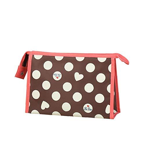 Sac fourre-tout commercial pour les femmes, Porte-monnaie Sac MakeUp sac cosmétique, école Sac à dos pour étudiants litière filles enfants Couleur Brown