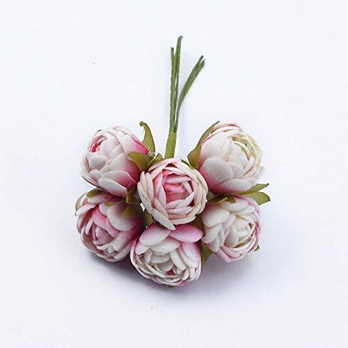 QVC Tee-Rosen Bouquet Geschenke Süßigkeiten-Box Home Dekoration Zubehör Hochzeit dekorative Blumen Kränze künstliche Blume 1