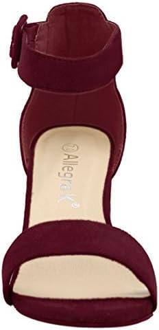 Burgundy high heel shoes _image2