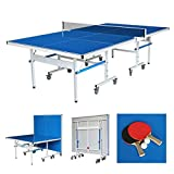 Funmall 9 ft Outdoor Table Tennis Table with Aluminum Plastic Composite Aluminum Composite Top for Great Playability with All-Weather Performance