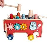 SHIERDU Wooden Hammering & Pounding Toys, Nail Hammer Stool,...