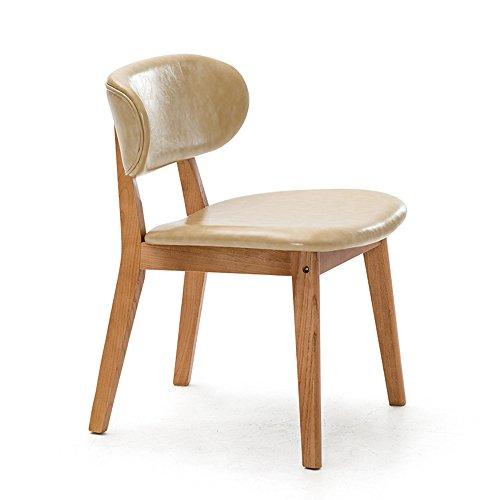 ZHANGRONG- Chaises en bois massif à manger chaise adulte fauteuil enfant -Tabouret de canapé (Couleur : Beige, taille : 1001)
