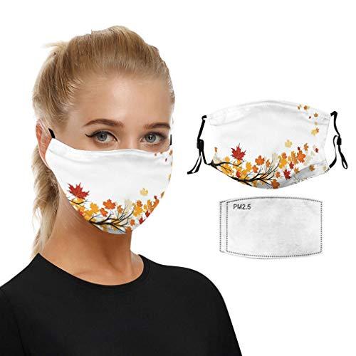 MEIbax 1PC+2PCS Filters Adult Double Dustproof Half Face Bandanas Face_Masks,Washable...