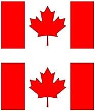 カナダ 国旗 フェイス シール 2枚入り <水転写タイプ>  ( 国旗 ペイント タトゥー シール )