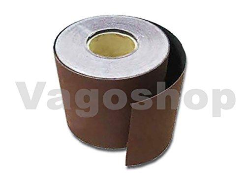 6x Set Schleifpapier 115mm 10m Rollenschleifpapier je Korn 1 Schleifrolle 40-320