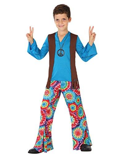 Atosa - Disfraz Hippie para niño, talla M, 5-6 años (111-28450)