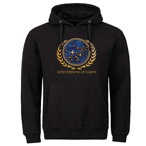 Star Trek Space Film Discovery schwarz Kapuzenpullover Hoodie (2XL)