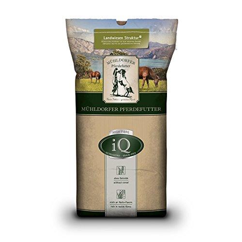 Mühldorfer iQ Landwiesen Struktur-Plus, 15 kg, reduzierter Getreidestärkegehalt, strukturreich, magenschonend, Futter für alle Pferde und Ponys