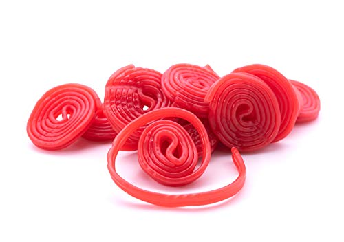 Gerrit Broadway Strawberry Licorice Wheels - 4.4 LB Resealable Stand Up Candy Bag - Strawberry Flavored Licorice Strip - Bulk Candy Bag for Parties or Holidays