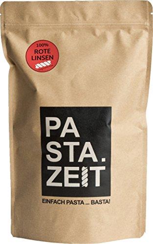 Pastazeit Bio Rote Linsen Fusili, Low Carb Nudeln, Proteinreich, Handgemacht, Vegan, Weizenfrei, Von Natur aus glutenfrei, lange Sättigung, In 5 Minuten al dente (3x300g)