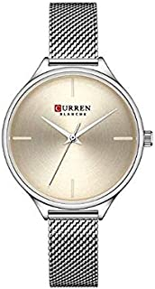 Curren Quartz Watches for Women's CURREN Original Brand Waterproof Girls Steel Wrist Watch 9062 - Gold