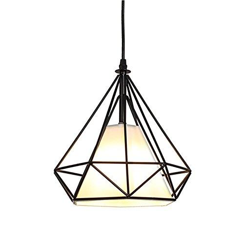 STOEX Chandelier Industrial Suspension 25cm, Deckenleuchte Lampenschirm , Schwarz
